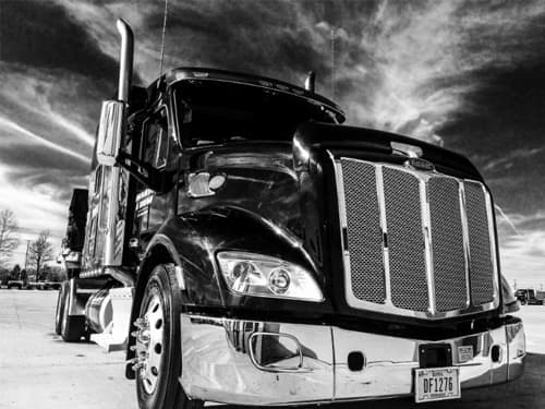 TMC Truck in Black and White