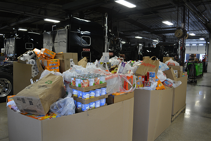 food drive des moines office shop employees owned banks charity volunteer