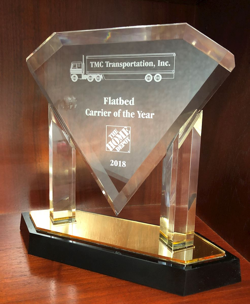 TMC Transportation Named The Home Depot's Flatbed Carrier of the Year For Fifth Straight Year