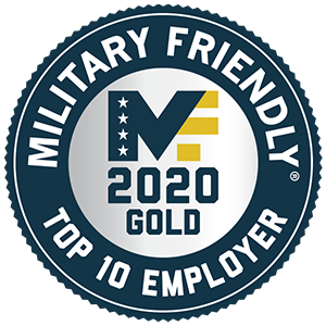 Military Friendly Top 10 Employer of 2020